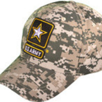 US Army Logo Military Baseball Hats (Digital Camo)