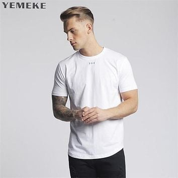 Men Raglan Long Sleeve Compression Shirt White black Costume cross fit fitness Clothing Tops Male