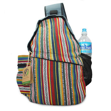 Mato Sling Backpack Bohemian Boho Lightweight Chest Shoulder Crossbody Daypack Bag