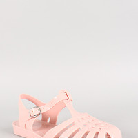 Bamboo Jelly Fisherman Buckle Flat Sandal