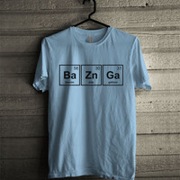 Bazinga chemical formula Men Shirt size S to 2XL Color Light Blue