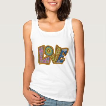 Colourful Love Seasons Womens Top Basic Tank Top