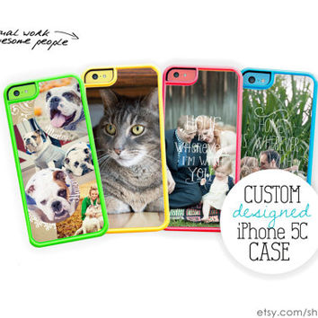 Custom iPhone 5C Case / Custom iPhone 5C Case / DIY Make Your Own Personalized iPhone 5C Case Silicone Case or Hard Case iPhone 5C Cover
