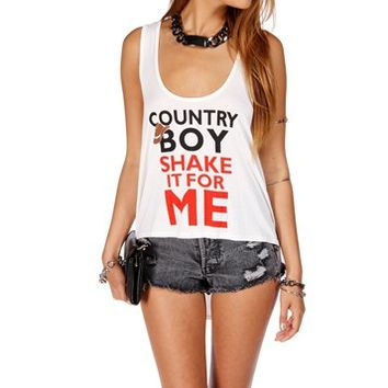 Ivory Country Boy Shake It For Me Tank