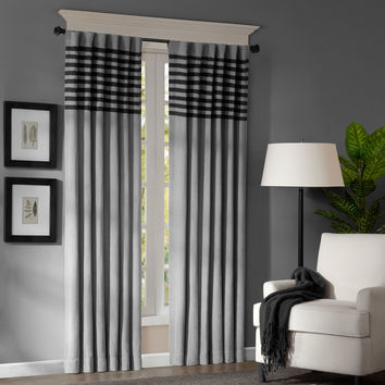 Madison Park Canyon Grey / Black Window Panel Pair | Overstock.com Shopping - The Best Deals on Curtains