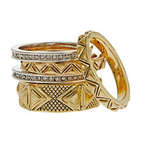 House Of Harlow 1960 Seven Piece Stackable Rings