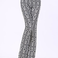 Gray Geometric Pattern Pants