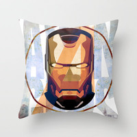 Avengers : IRON MAN print  Throw Pillow by LostMind