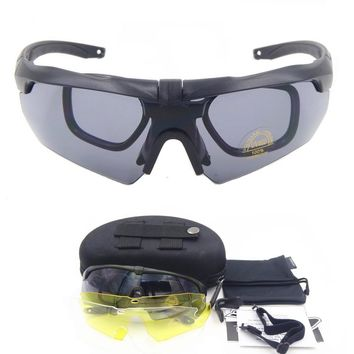 Ess High Quality Tr90 Military Goggles 3 5 lens Polarized Sunglasses Bullet-proof Army Tactial Glasses shooting Eyewear