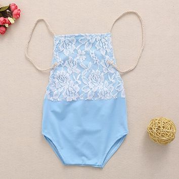 Cute Newborn Baby Boy Girl Lace Romper Sitter One-piece Photo Props Outfit Costume