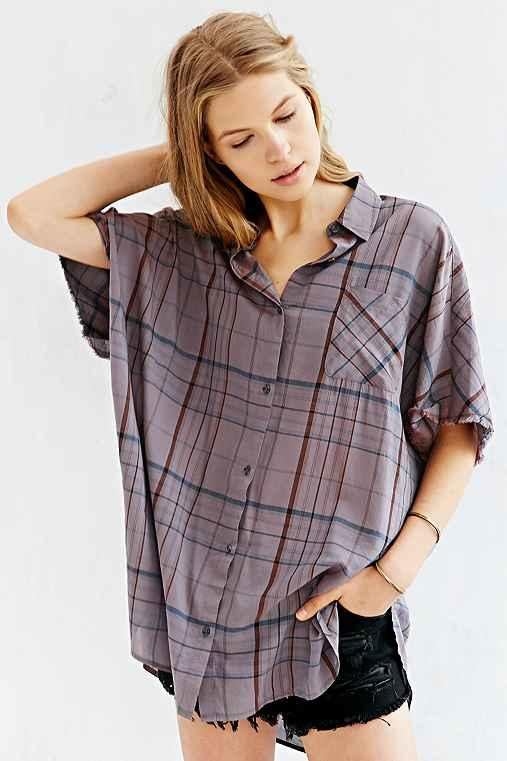 Bdg Oversized Button Down Boy Shirt From Urban Outfitters