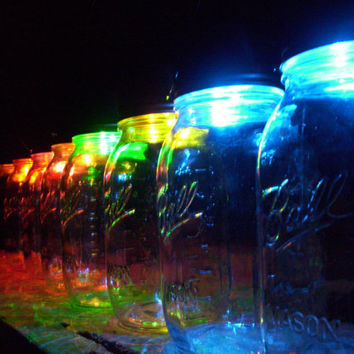 Color Changing Mason Jar Solar Lid Hanging Eco Solar Light Mason Jar Lid Colored Patio Lighting Summer Lights Mason Jar Lantern Lights