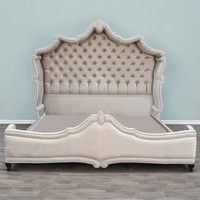 Antoinette Silver Velvet Bed- Custom Upholstery Furniture- www.hautehousehome.com