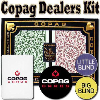 Copag Dealer Kit - 1546 Green/Burgundy Poker Regular