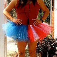 Captain America Halloween Costume American Flag Patriotic tutu Skirt Dress Adult Plus Size Baby Youth Girls Star Stripes Red white Blue rave
