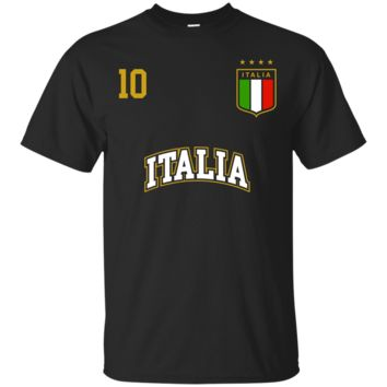 Italy T-Shirt Hoodie Number 10 Soccer Team Sports Italian Flag