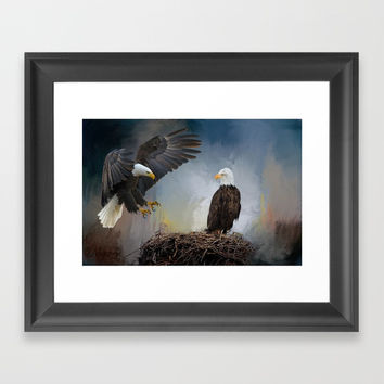 Eagles Nest Framed Art Print by Theresa Campbell D'August Art