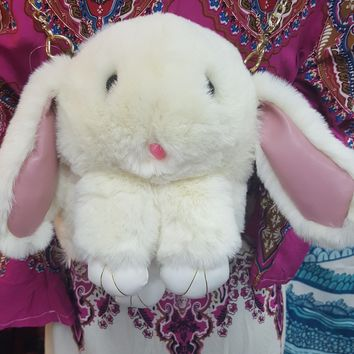 Fuzzy Bunny Backpack or Messenger