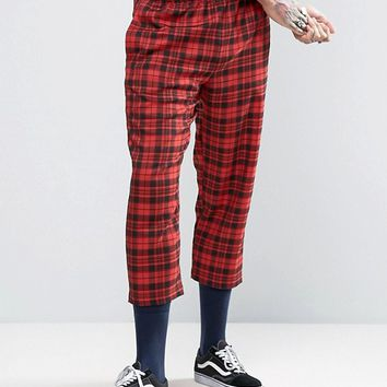 Reclaimed Vintage Inspired Jacket And Pants In Red Check at asos.com