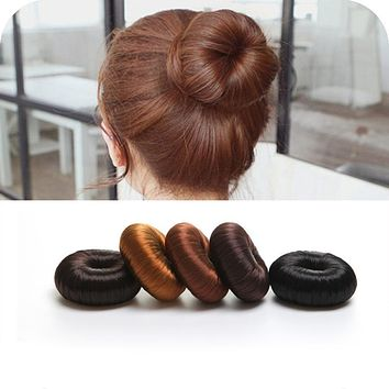 1pcs Fashion Women Girls Magic Shaper Donut Hair Ring Bun Maker Fashion  Accessories