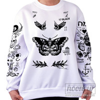 Larry Stylinson Tattoo Sweatshirt Sweater Crew Neck Shirt – Size S M L XL