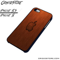 Wood Apple Texture Case For Iphone 5/5S Case