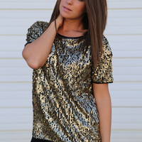 Party Girl {Gold Sequin Top}
