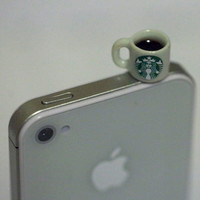 Kawaii STARBUCKS COFFEE Iphone Earphone by fingerfooddelight