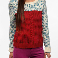 Cooperative Mixed Stitch Textured Sweater