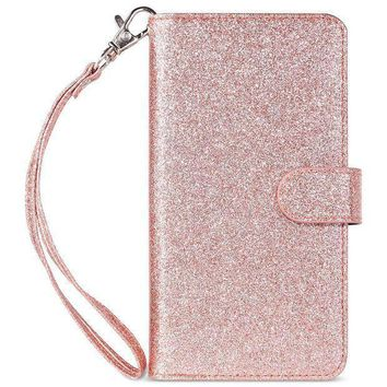 Iphone 7 Plus Case Iphone 8 Plus Wallet Case Ulak Glitter Magnetic Detachable Pu Leather Wallet Multi Credit Card Holders Flip Case Cover For Apple Iphone 7 Plus / Iphone 8 Plus Rose Gold Bling