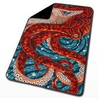 Octopus for Blanket, Throw Blanket, Fleece Blanket, Custom Blanket