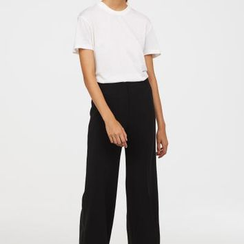 Wide-leg Pants - Black - Ladies | H&M US