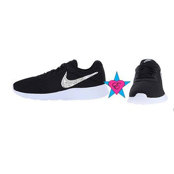 Crystal Little Kid Black Nike Tanjun Sneakers 3.5- 7
