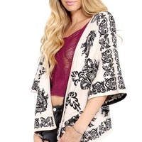 Butterfly Baroque Cardigan |MakeMeChic.com
