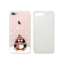Cute Penguin Merry Christmas Clear Transparent Plastic Phone Case for iphone 7PLUS_SUPERTRAMPshop (VAS324.7plsl)