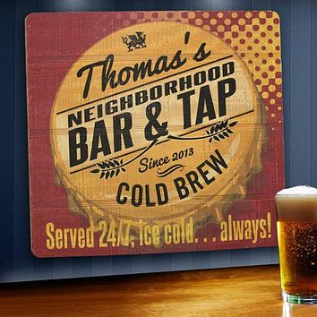 Personalized Wood Tavern and Bar Signs Free Engraving