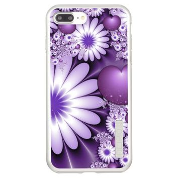 Falling in Love Abstract Flowers & Hearts Fractal Incipio DualPro Shine iPhone 7 Plus Case