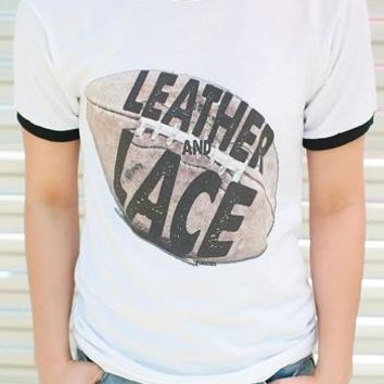 "Gina ""Leather & Lace"" Tee (Options)"