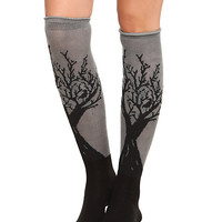 Too Fast Tree Rolled Over-The-Knee Socks | Hot Topic