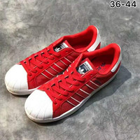 Adidas shell sports shoes sneakers red H-ALXY