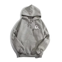 RIPNDIP Lord Nermal Grey Pocket Hoodie