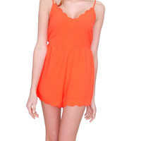 Sunny Day Romper - Orange