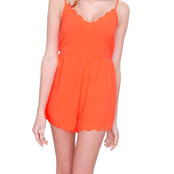 Sunny Day Romper Orange