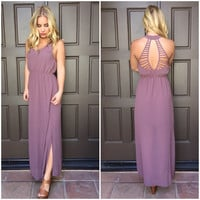 Strings of My Heart Maxi Dress - MAUVE