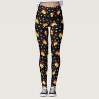 Jingle bell and stars Christmas black Leggings