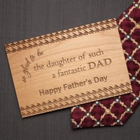 Father's Day Gifts - Wooden Father Day Card - Best Dad