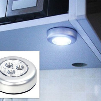 Wall Light Kitchen Cabinet Closet Lighting 3 LED Wireless Push Touch Lamps [8045580167]