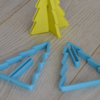 3D Christmas tree cookie cutter