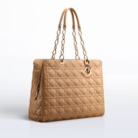 'DIOR SOFT' ZIPPED SHOPPING BAG DIOR BEIGE LAMBSKIN