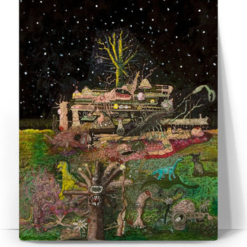 Jeff Parrott, A Place In Space, Mixed Media, Acrylic, and Colored Pencils on paper